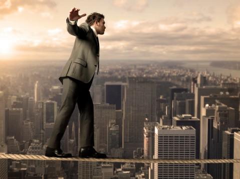 Equilibrist businessman
