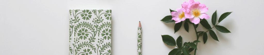 notebook flower banner